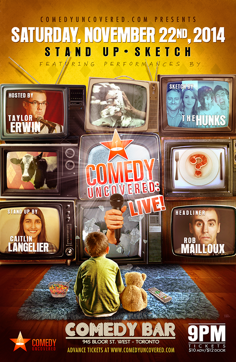 Our Next Comedy Uncovered:Live is Saturday, November 22, 9pm at Comedy Bar. Headlined by Dark Comedy Fest's Rob Mailloux!