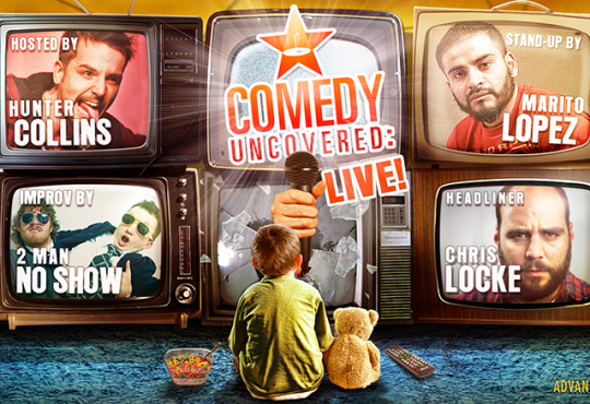 Our Next Comedy Uncovered:Live is Saturday, April 11, 9pm! Headlined by Chris Locke!