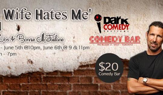 """The """"My Wife Hates Me Weekend"""" at Comedy Bar – NYC Legendary Husband/Wife Duo Rich Vos & Bonnie McFarlane!"""