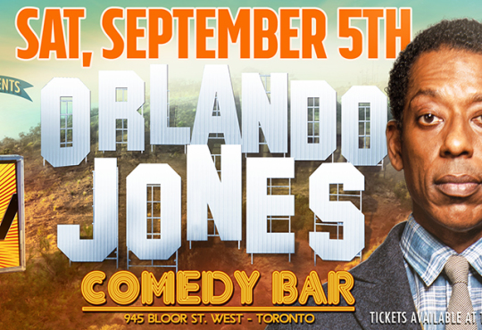 Comedy Uncovered:Live Headlined by ORLANDO JONES (Sleepy Hollow, MadTV)! Sat., Sept. 5 at Comedy Bar!